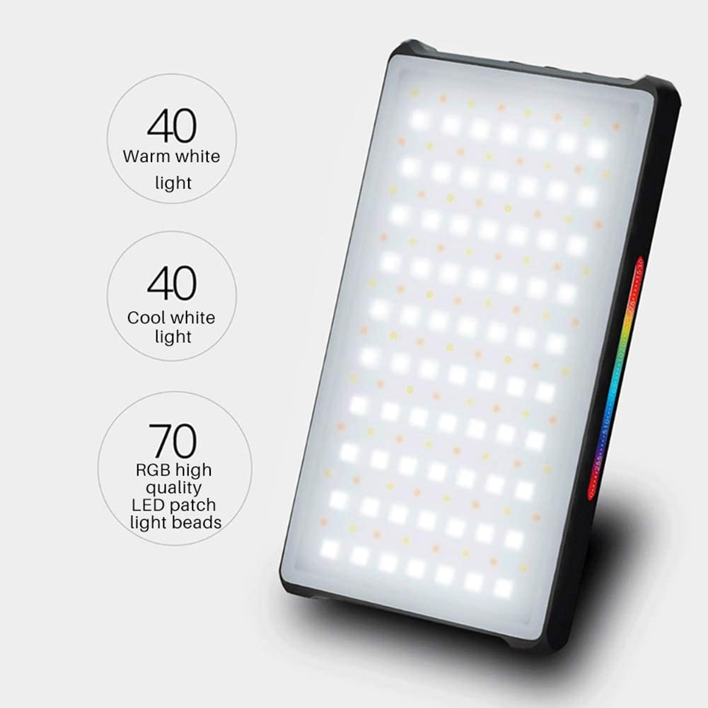 10 Pre-Programmed Lighting Effect Modes Suitable for Camcorder 2500-8500K Dual Color Temperature 360 /° Support System YTBLF RGB LED Video Light