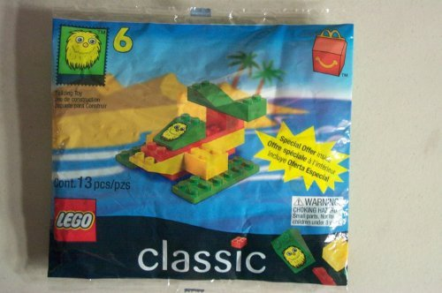 1999 Mcdonals Happy Meal #6 Lego # 2047 Yellow Fry Guy Seaplane