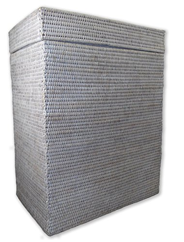 Artifacts Trading Company Rattan Rectangle Hamper with Hinged Lid, 18'' L x 12'' W x 24'' H by Artifacts Trading Company (Image #1)