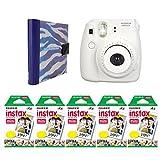Nifty NIAL-100PP8WH Instax Mini Photo Album Zebra with Instax Mini 8 Camera White, 100 Exposures of Fuji Instax Mini Film (Purple/White)
