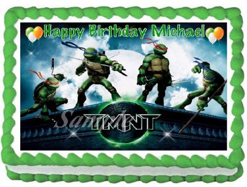 Teenage Mutant Ninja Turtles #1 Edible Frosting Sheet Cake Topper - 1/4 Sheet]()