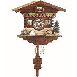 Trenkle Kuckulino Black Forest Clock Swiss House with quartz movement and cuckoo chime TU 2035 PQ