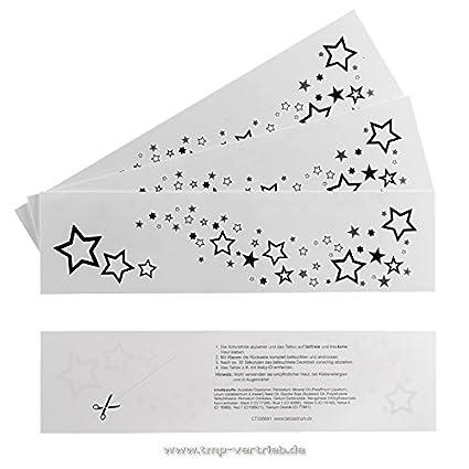 Amazon.com: 2 x Star Tattoo Stripes - Rihanna Tattoo Stars - Stars ...