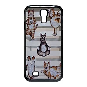 Yoga Cats Personalized Cover Case for SamSung Galaxy S4 I9500,customized phone case ygtg572030 WANGJING JINDA