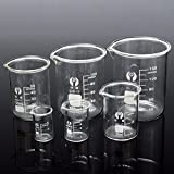 DIY 6Pcs Borosilicate Glass Beaker Volumetric Glassware For Laboratory