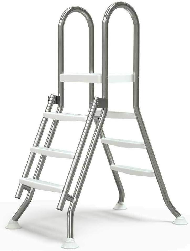 well2wellness® Escalera Plegable de Acero Inoxidable Piscinas de ...