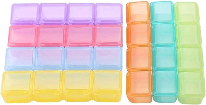 Mini caja de herramientas colorida de 56 rejillas, caja de joyería de tornillo, práctica caja de almacenamiento con cubierta transparente/a prueba de polvo para almacenar herramientas de reparación el: Amazon.es: Electrónica