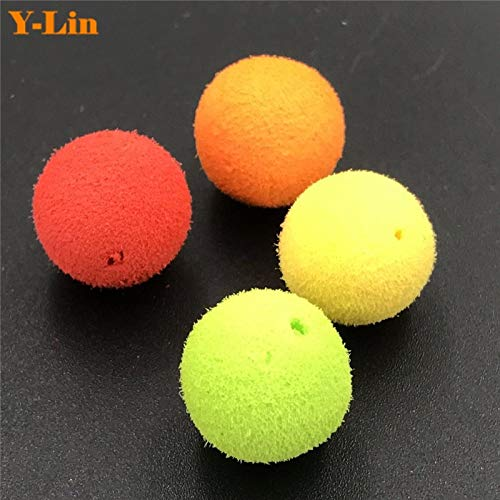 Fishing Lures - Carp Fishing 10mm 12mm Foam pop up Artifical boilies Soft pellets baits Fake Floating Corn Tiger Nuts Fishing Tackle - (Color: 10mm Orange)