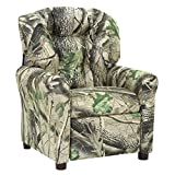 THE CREW FURNITURE 649620 Traditional Microfiber Recliner Jet Black Kids chair, Small