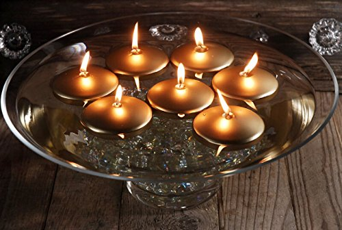 Richland Gold 3'' Floating Candles Set of 12