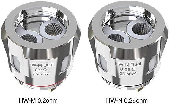 Eleaf HW-M/HW-N Dual Coil Head for iStick Nowos 5pcs (HW-N Dual ...