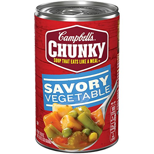 Campbell's Chunky Savory Vegetables Soup, 18.8 oz. Can (Pack of -