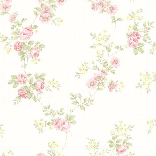 Wallpaper Blush - Beacon House 302-66870 Blossom Rose Trail Wallpaper, Blush