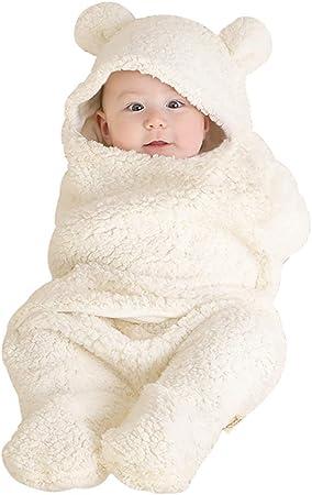 ZUEN Bebé Saco De Dormir De Invierno, El Bebé Recién Nacido Wrap Swaddle Manta Gruesa Bata Cochecitos Manta Caliente Acogedora Y Suave para 0-12 Meses Muchachas De Los Bebés: Amazon.es: Deportes y