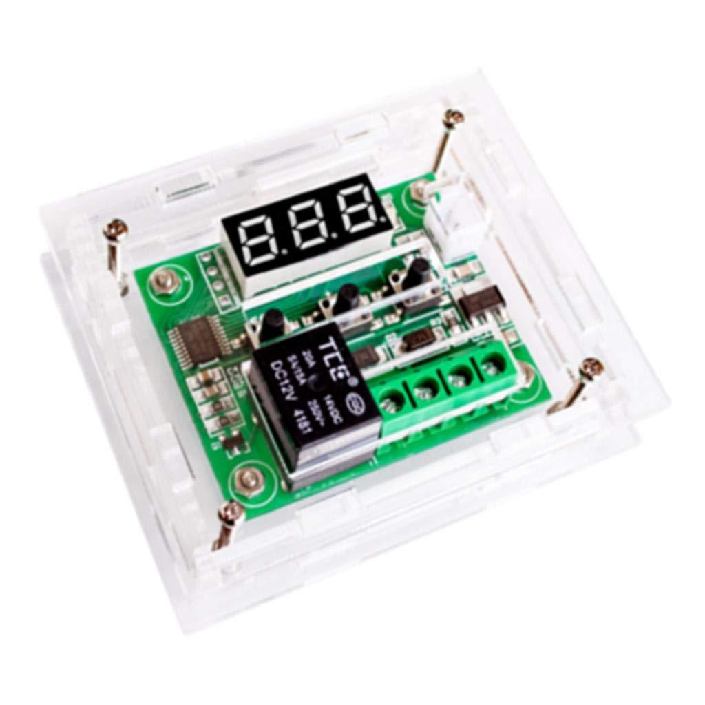Green LED Acrylic Case B Baosity W1209 LED Digital Thermostat Contr/ôleur Carte Module de Commutateur de Commande de Temp/érature Dc12V