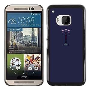 Be Good Phone Accessory // Dura Cáscara cubierta Protectora Caso Carcasa Funda de Protección para HTC One M9 // Street Lamp Light Romantic