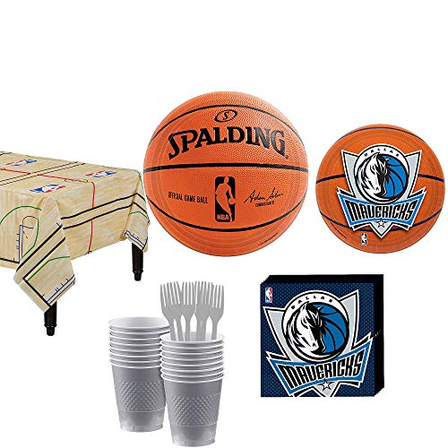 Party City Dallas Mavericks Party Kit 16 Guests, Includes Table Cover, Plates, Napkins and More