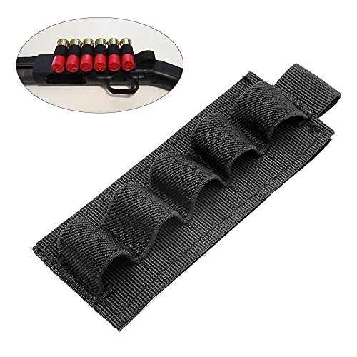 2-Pack Buttstock Holder Rifle Cartridge Shotgun Ammo Carrier Adhesive Side Saddle 5 Shells for 12Ga 20Ga (Holder Shotgun Shell)