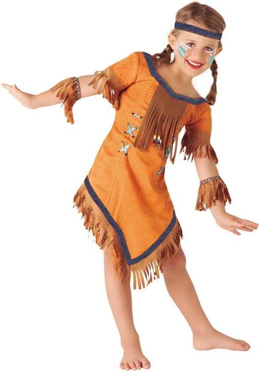 Rubies (S8423-L) - Disfraz de india Cherokee, para niñas, talla L ...