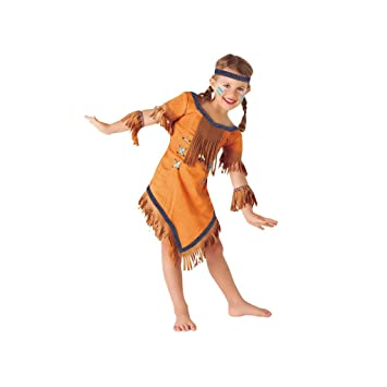 Rubies- Disfraz de indio Cherokee, S (3-4 años) (Rubies Spain S8423-S)