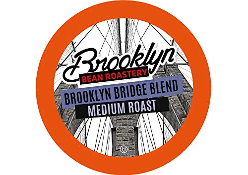 (Brooklyn Beans Brooklyn Bridge Blend Coffee Pods, Compatible with 2.0 K-Cup Brewers, 40 Count)