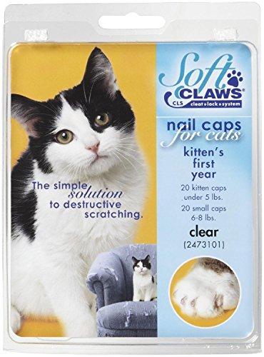 (Feline Soft Claws Nail Caps Kitten Clear)