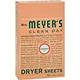 Mrs Meyers Clean Day Dryer Sheets, Geranium 80 ea ( Pack of 24)