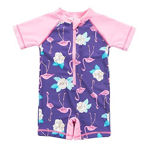 Baby Boy Girl Swimsuit One Piece Surfing Suits Beach Swimwear Rash Guard (Girls Baby Piece One)
