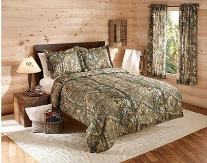 Realtree, camuflaje, niños, caza, cabina, Full) y Shams Set (