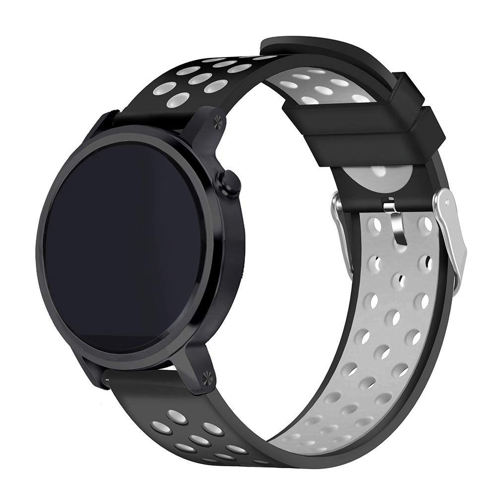 Yallylunn Silikonarmband Zweifarbiges Modisches Uhrenarmband Komfortabel Und Atmungsaktiv Geeignet F/üR Den T/äGlichen Gebrauch Der Sch/üLer