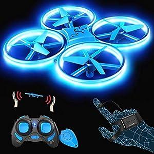SNAPTAIN SP300 Drone LED 3 Modes de Contrôle, 360° Flips, Capteur Infrarouge, Induction de Gravité, Maintien de l…