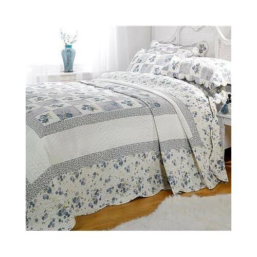 linens limited parure couvre lit matelass lille 1 personne bleu 180 x 260cm - Dessus De Lit 1 Personne