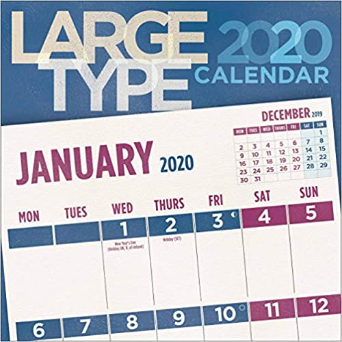 Large Type Square Wall Calendar 2020