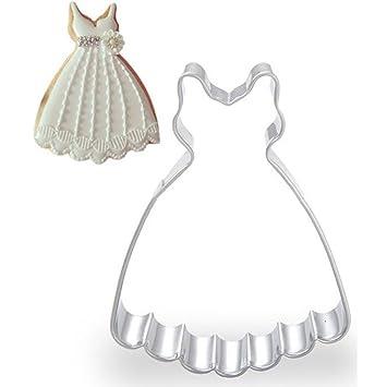 WDYJMALL - Molde de acero inoxidable para galletas de boda con falda cortadora de galletas: Amazon.es: Hogar