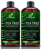 ArtNaturals Tea Tree Shampoo and Conditioner Set 2 x 16oz – Sulfate Free – Made w/Therapeutic Grade Tea Tree Essential Oil - Deep Cleansing for Dandruff, Dry Scalp and Itchy Hair – Men & Women