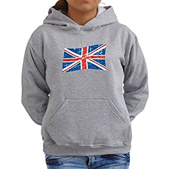 England flag worn style Women Hoodie