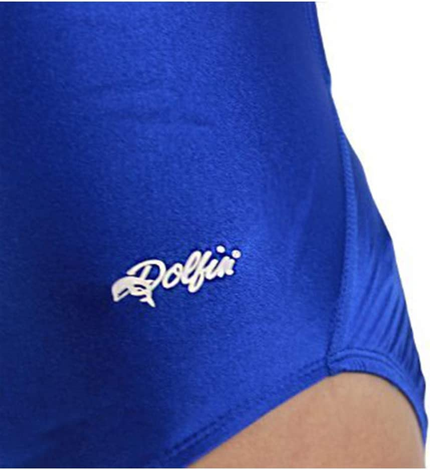 Dolfin Womens Winners Performance Back Solid Swimsuit