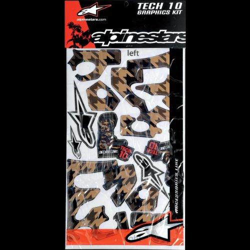 Alpinestars Tech 10 Boot Graphics Kit Black Gold -