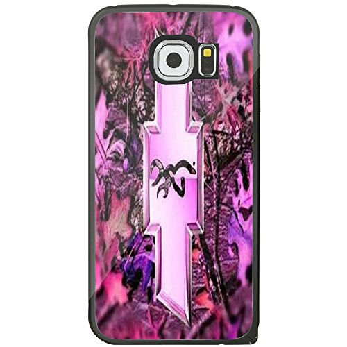 Logo with a Deer on the Inside Pink for Iphone and Samsung Galaxy (Samsung Galaxy s6 black)