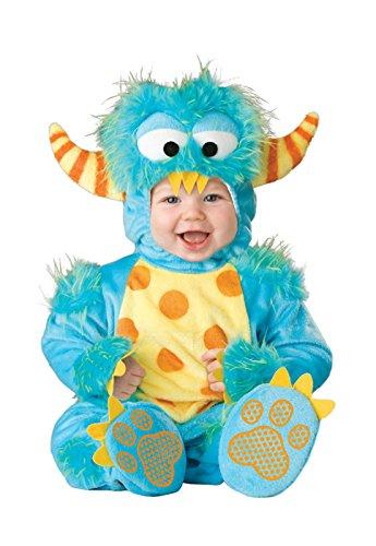 InCharacter Unisex Baby Monster Costume, Blue/Yellow/Orange, Large