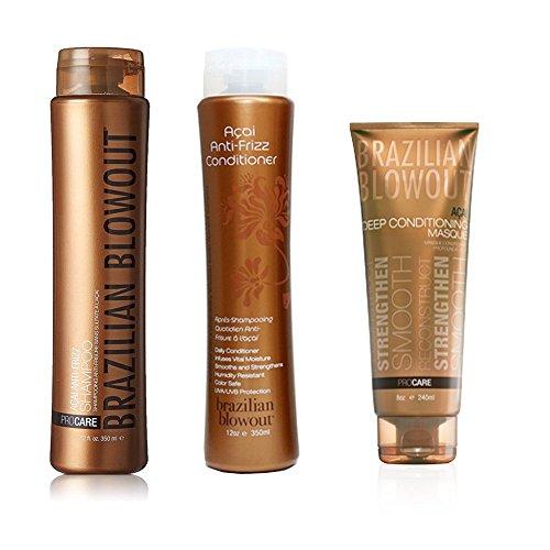 Brazilian Blowout Shampoo/Conditioner 12 Oz & Acai Deep ...