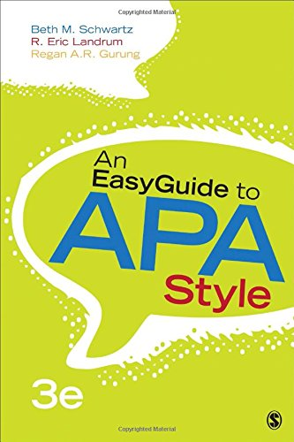 (An EasyGuide to APA Style (EasyGuide Series))