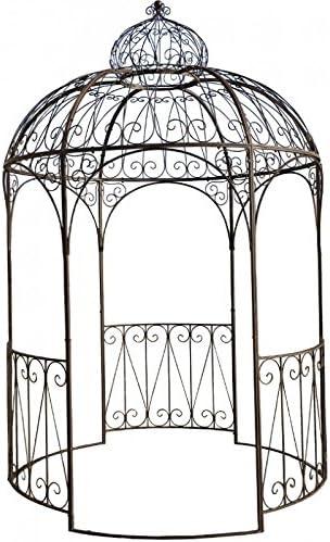 Cenador, pérgola, kiosko de jardín en hierro diámetro 200 cm: Amazon.es: Hogar