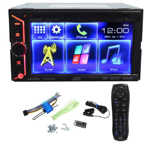 JVC KW-V30BT Double Din In Dash Car DVD Monitor Receiver