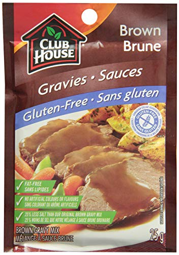 Club House Gluten-Free Brown Gravy, 25g/1oz, Imported from Canada}