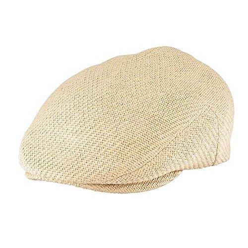 Henschel Men's Soft Straw Weave IVY Hat With Cotton Lining, Wheat, Large Henschel Straw