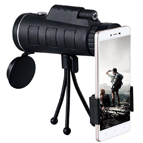 Telescopio del teléfono móvil, telescopio monocular, lente de la cámara del zoom Visión nocturna baja 12X50 BAK4 Prisma y...