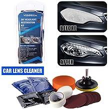 Headlight Lens Restoration System Car Lens Cleaner Headlamp Cleaning Tool Polishing Kit by MUITOBOM