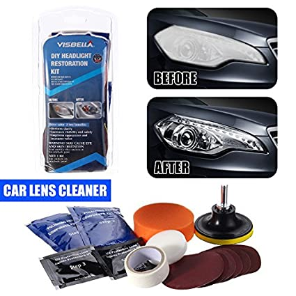 Amazon Com Headlight Lens Restoration System Car Lens Cleaner