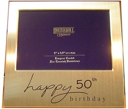Happy 50th Birthday Photo Frame Gift 5 X 35 Amazoncouk